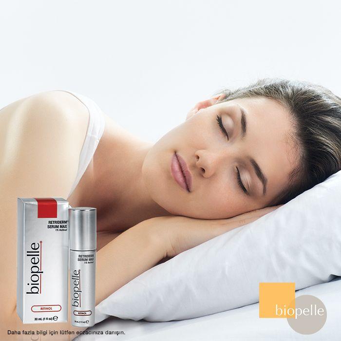 A Vitamini içerikli Biopelle Retriderm, siz uyurken cildinizi gençleştirir. Tatlı rüyalar smile emoticon Detaylı bilgi için lütfen eczacınıza danışın.
