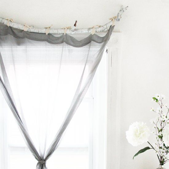 1000 ideas about branch curtain rods on pinterest