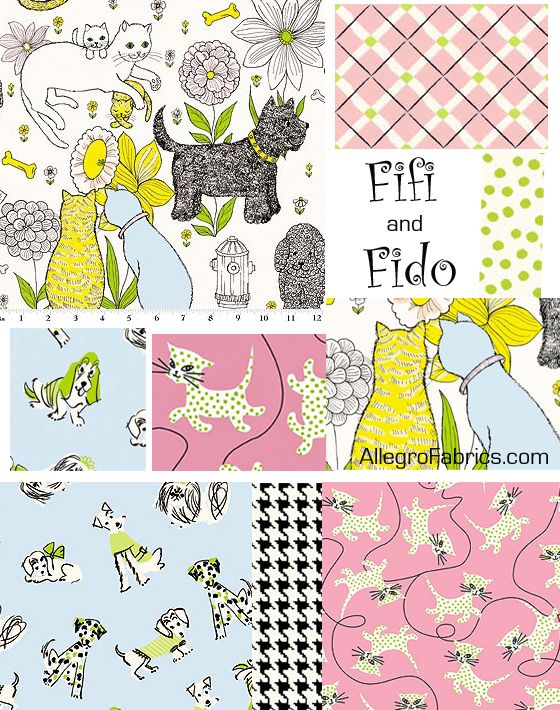 Fifi & Fido I want to make some quilts out of this fabric.