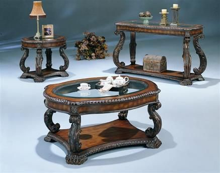 Casual Cappuccino Coffee Table Set