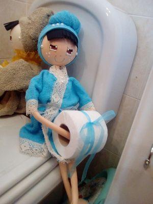 O Estaminé da Xé: Bonecas porta rolo papel higienico várias cores