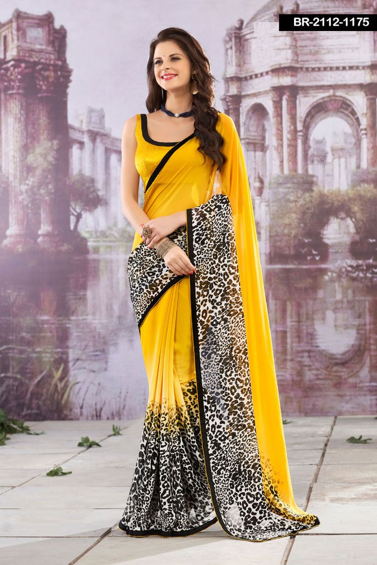 Yellow colour saree images fabric  georgette dailywearsarees price  rs design no