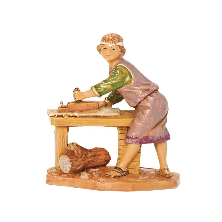Hershel, the Young Carpenter from the Fontanini collection of villager figures.