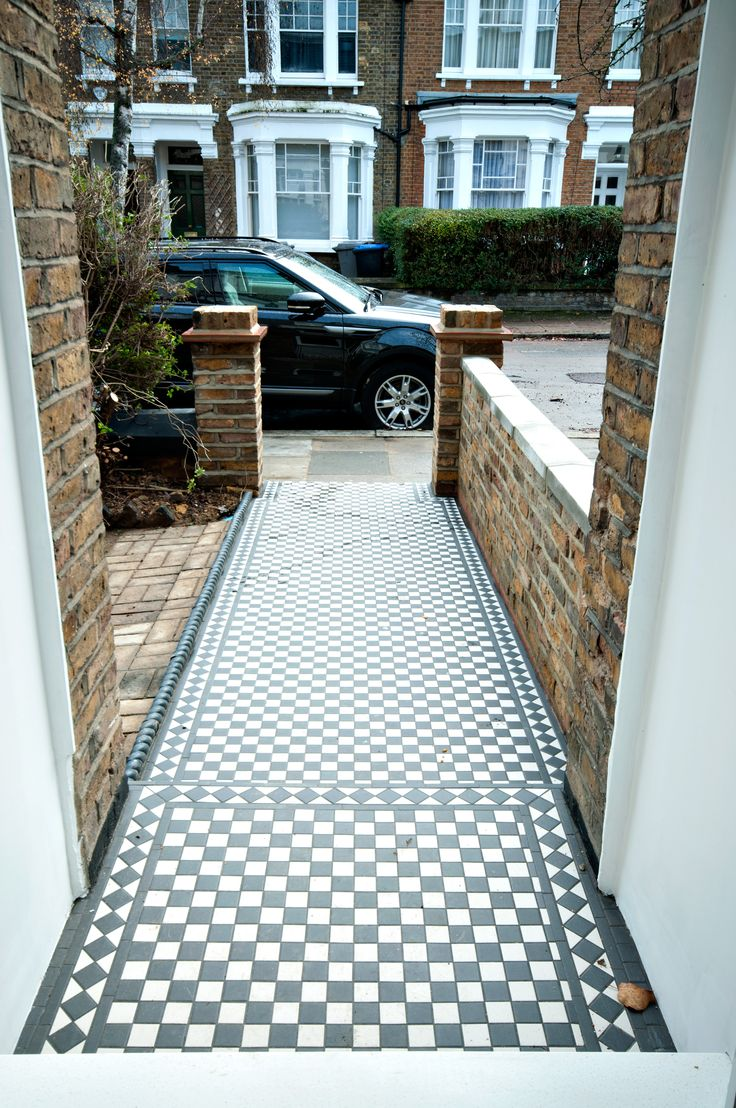 Path to the house - beautiful tiled floor