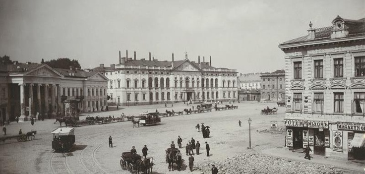 Plac Krasińskich, lata 80. XIX w., fot. Konrad Brandel.