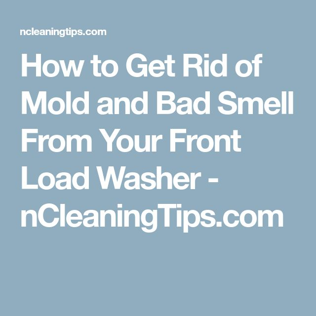 how to get rid of gasoline smell in washer