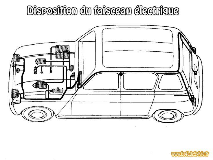 sch mas lectrique des renault 4 motor pinterest renault sch ma et electrique. Black Bedroom Furniture Sets. Home Design Ideas