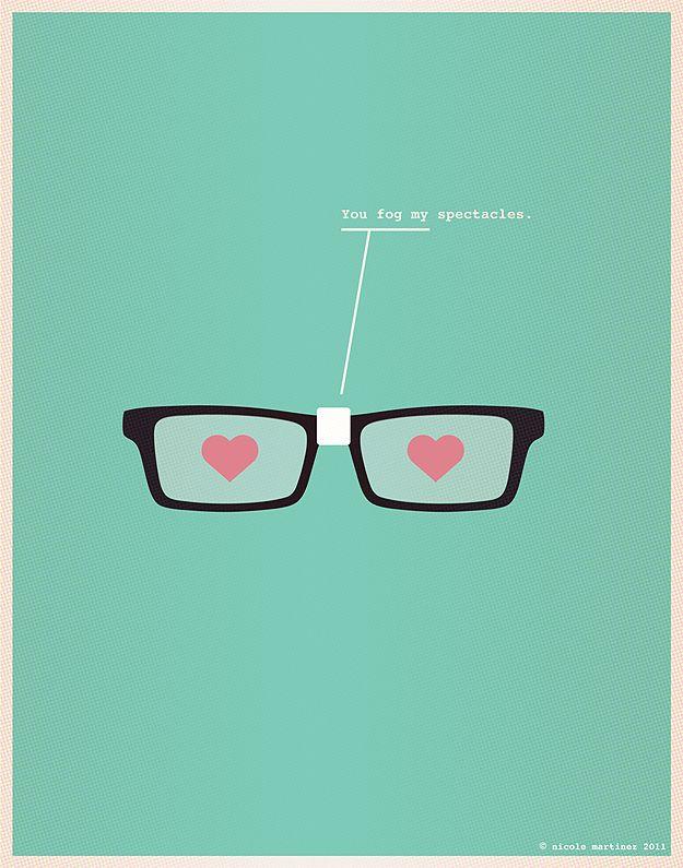@Ana Reinert - made me think of you...: Nicole Martinez, Geek, Nerdy Dirty, Valentines, Illustration, Poster, Will, Design