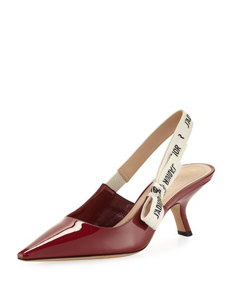 aa134cbedd2c DIOR J'Adior Leather Slingback Pump, Red. #dior #shoes # | Dior in ...
