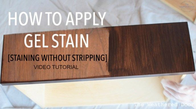 Gel stain over latex paint