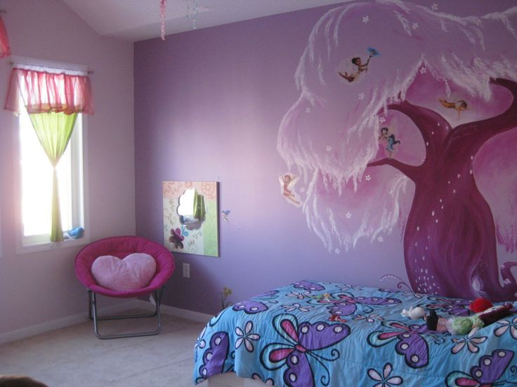 12 best images about kids room on pinterest trees tree for Disney fairies bedroom ideas