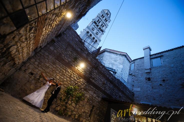 Plener Ślubny w Chorwacji - Split - Pałac Dioklecjana    #Croatia #Chorwacja