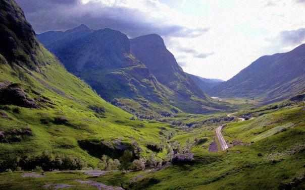 THE VALLEY OF GLENCOE SCOTLAND