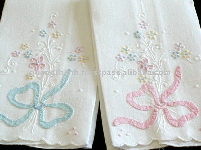 Portuguese Handmade Linen Vintage Hand Embroidered Guest