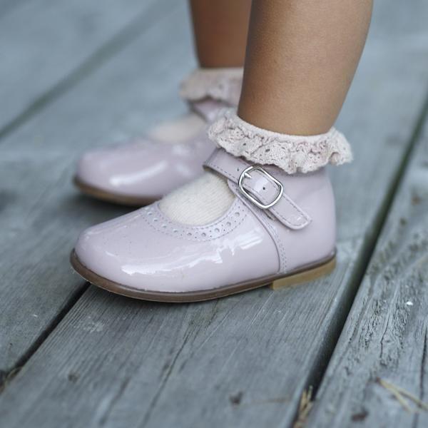 Beberlis pudderrosa Mary Jane – Hola Lola #childrensshoes #kids #shoes #holalola_no