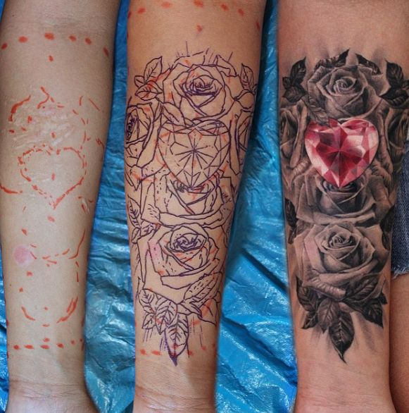 1000 Ideas About Gem Tattoo On Pinterest: 31 Best Realistic Diamond And Rose Tattoo Images On