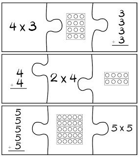 Multiplication Puzzle Game.