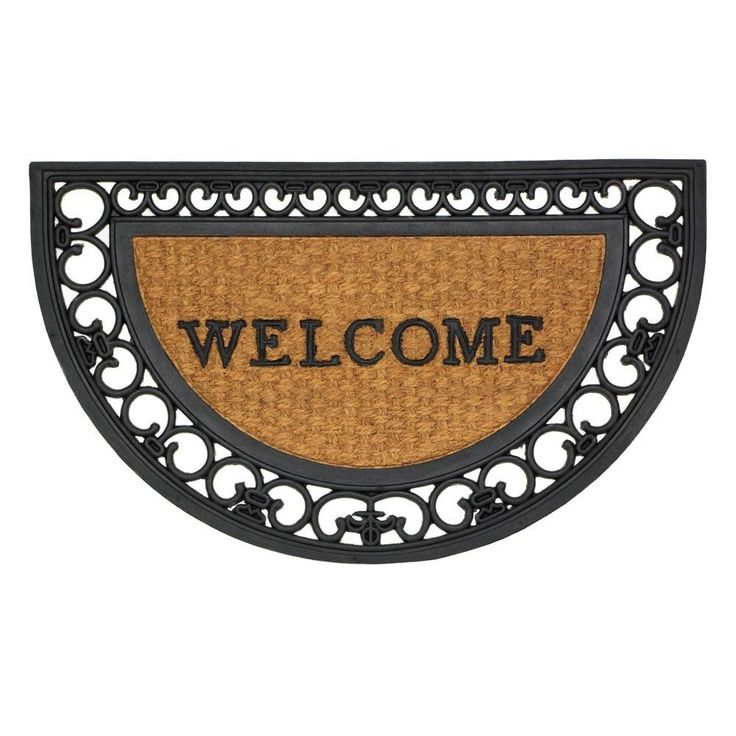 Regal Half Moon Framed Entry Mat Rugs Dirt Guests Step Rubber Coir Home Room #SummerfieldTerrace