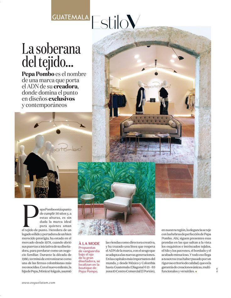 """""""La soberana del tejido..."""" Vogue México y Latinoamérica #PepaPomboGuatemala"""