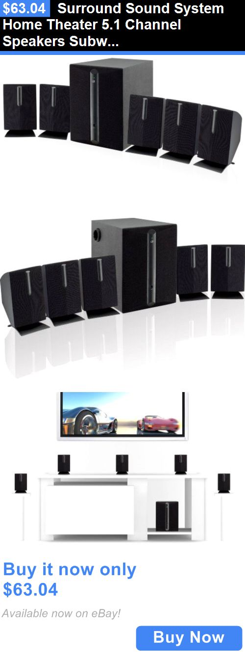 Home Theater Systems: Surround Sound System Home Theater 5.1 Channel Speakers Subwoofer Audio Dvd New BUY IT NOW ONLY: $63.04