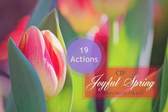 Joyful Spring Photoshop Actions for CS5 CS6 & by ColourThemPretty, $5.50