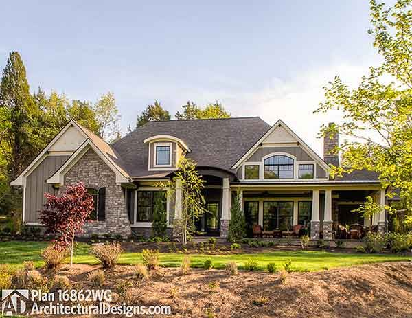 House Plan 16862WG built in Tennessee. As designed around 2,300 sq. ft. As built around 3,100 sq. ft. Ready when you are? Where do YOU want to build?