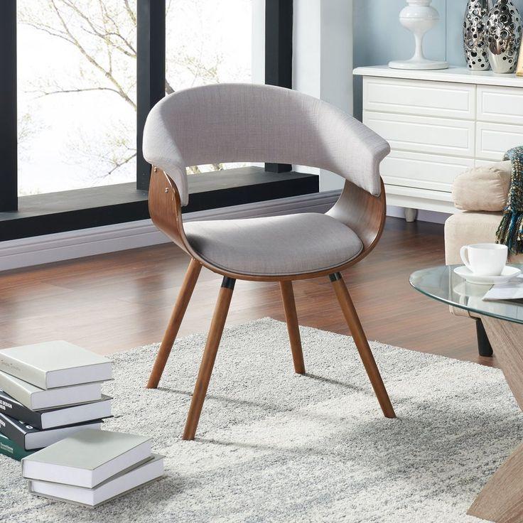 Zoe Bent Wood Accent Barrel Chair