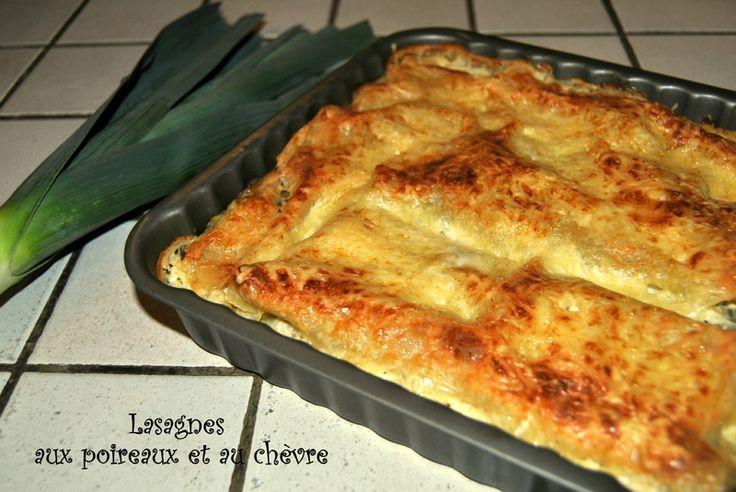 Lasagnes aux poireaux et chèvre