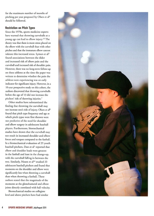My pitcher on Sports Medicine of Napa Valley website.  Blog Adolscent pitching AOSSM-3