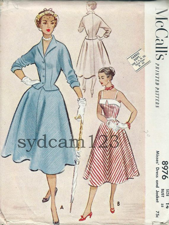 Vintage 1952 Banded Bodice Full Skirt Sundress and by sydcam123, $16.00