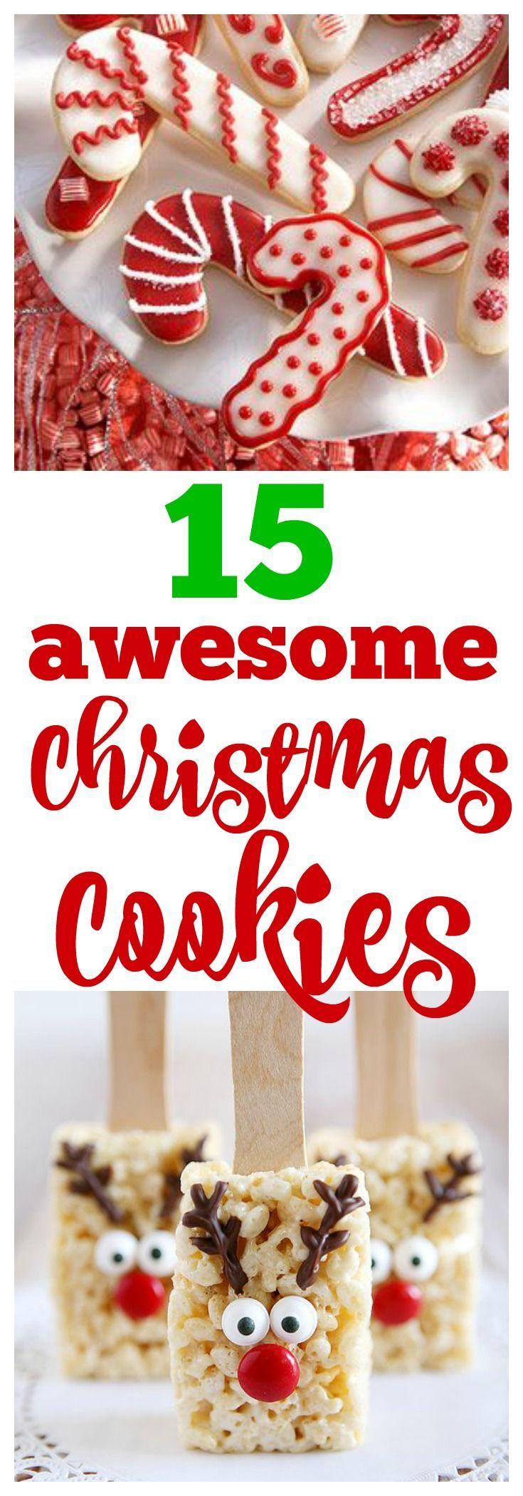 15 Awesome Christmas Cookies to Make This Year #christmascookies #christmas