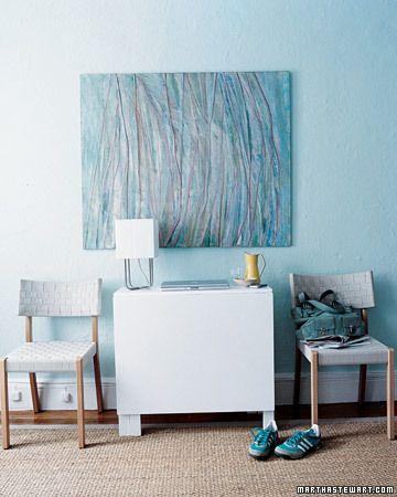 Blue wall color scheme