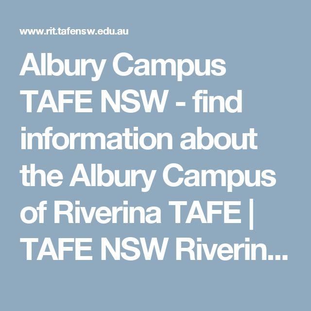 Albury Campus TAFE NSW - find information about the Albury Campus of Riverina TAFE | TAFE NSW Riverina Institute