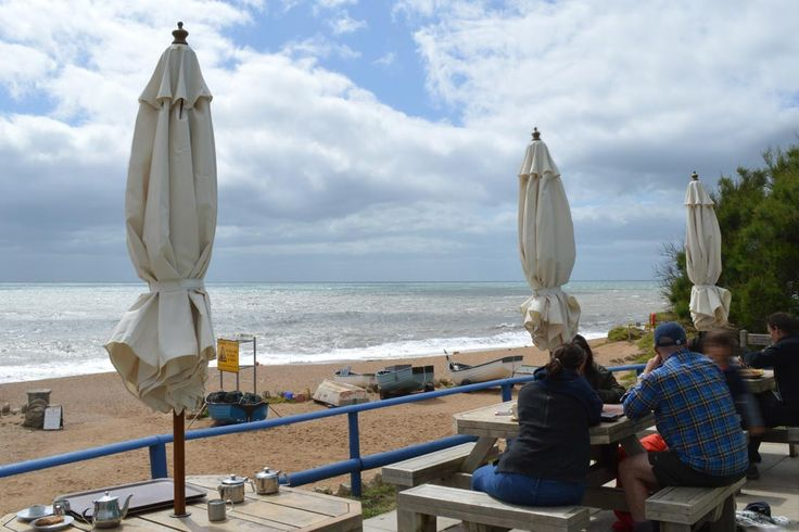 Sea views and freshly cooked seafood at the Hive beach cafe at Burton Bradstock | Dorset | England