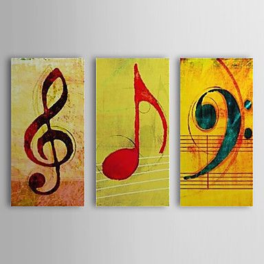 Hand Painted Oil Painting Abstract Music Note with Stretched Frame Set of 3 1310-AB1207 – USD $ 131.59                                                                                                                                                                                 Mais