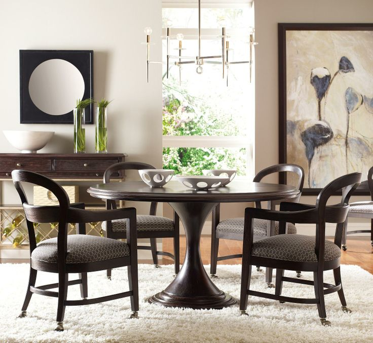The Classic Portfolio Modern 5 Piece 54  Round Table Set with Club Chairs  with. 51 best Dining room images on Pinterest