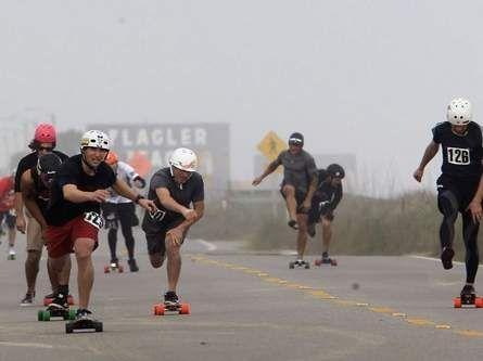 Skate Flagler Beach Vacation! World record broken for fastest 1 mile skate.