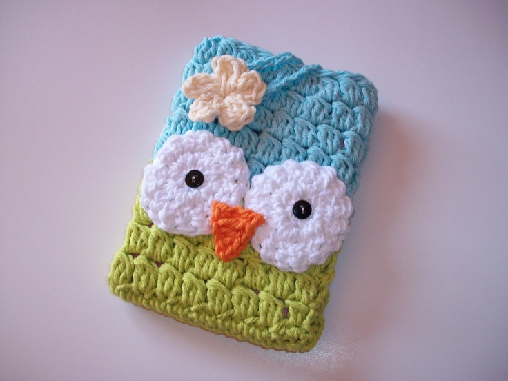 SALE Crochet Owl Kindle Cover Fire Touch Basic. $16.99, via Etsy.