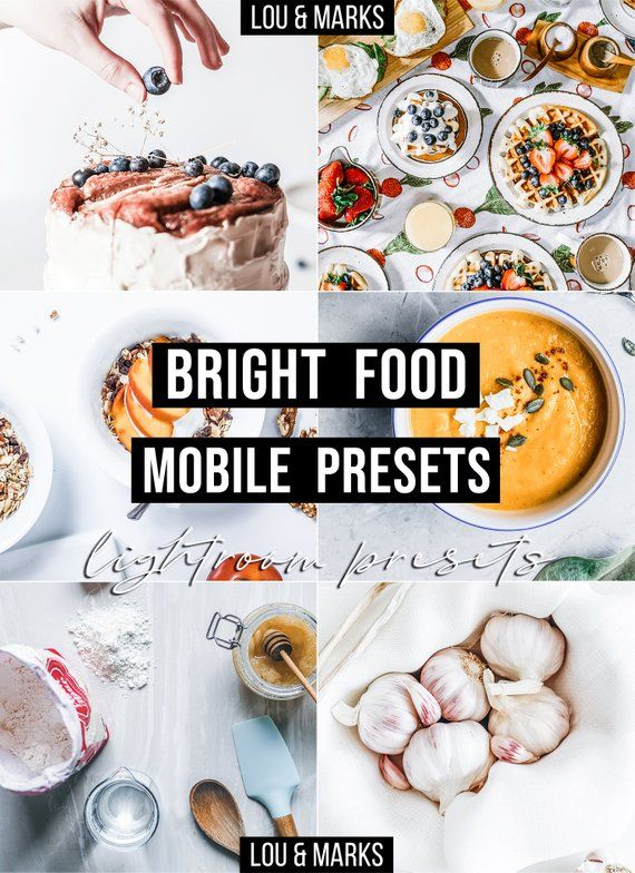 Food Presets Lightroom Presets Mobile Bright Airy Preset