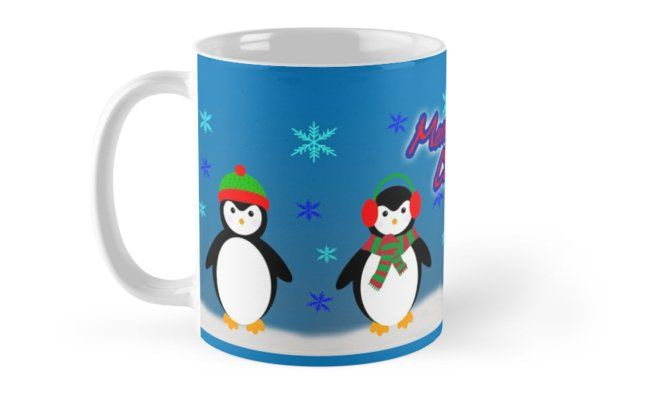 12 Days of Promos: 25% off Mugs. Use code DAYTWO. Merry Penguin Christmas  Mug by emily pigou  #mug #promotion #gifts #family #discount #penguins #kids #shopping #sales #xmas #christmas #xmasgifts #coffeemug #penguin #fun #cute #funny #christmasgifts #39;s