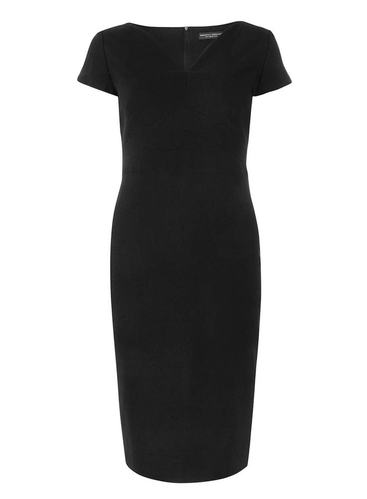 Black Bengaline Pencil Dress