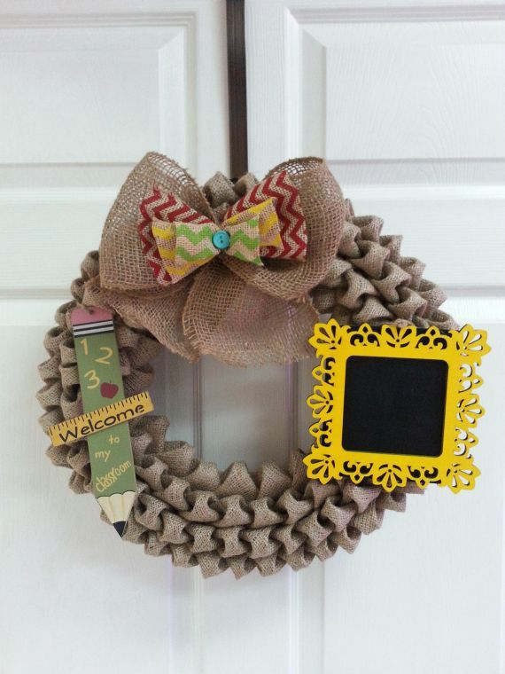 Classroom Wreath Ideas ~ Best craft burlap wreaths images on pinterest