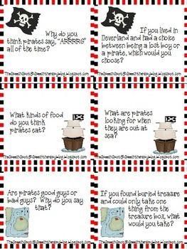 FREE Pirate Talk cards.