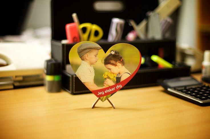 Hjerte i træ med dit billede