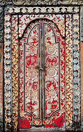 Indonesia, bali: decorated door by Rene Drouyer, via Dreamstime