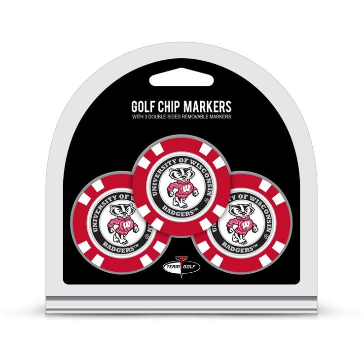 Team Golf Wisconsin Badgers Poker Chips Ball Markers - 3-Pack, Green