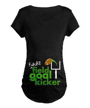 Look at this #zulilyfind! Black 'Field Goal Kicker' Maternity V-Neck Tee - Women & Plus by CafePress #zulilyfinds