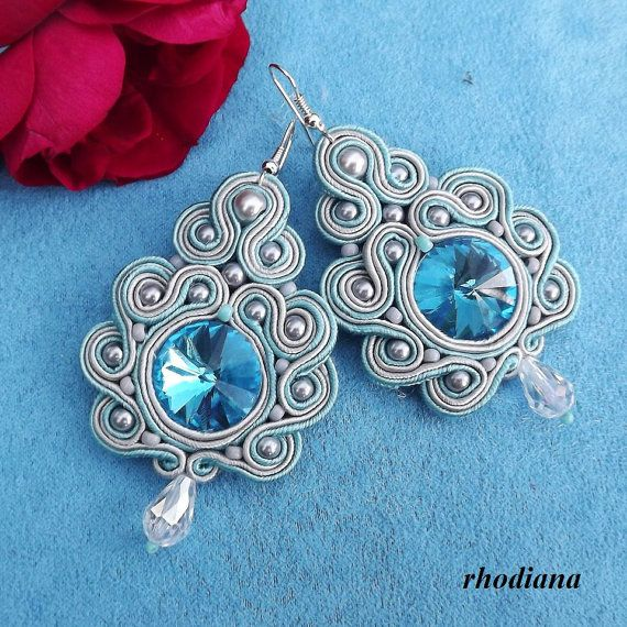 Ehi, ho trovato questa fantastica inserzione di Etsy su https://www.etsy.com/it/listing/214394331/turquoise-grey-soutache-earrings