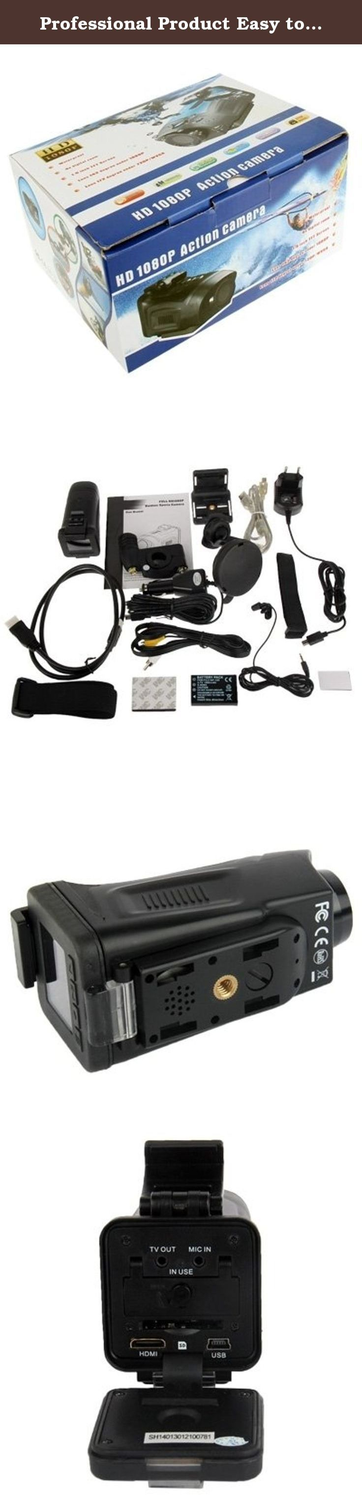 """Professional Product Easy to Use 1080P CMOS 5 Mega Pixels Sports Waterproof Digital Video Camera with 4x Digital Zoom, Support TV-Out / HDMI / SD Card. Professional Product Easy to Use 1) Lens: 150 degree wide angle 5G glass lens 2) LCD Display: 1.5"""" TFT LCD 3) Image Sensor: 5.0MP CMOS image sensor 4) Waterproof: 5 meters water resistant 5) Zoom: 4x digital zoom 6) Video Format: MOV (H.264) 7) Video Resolution: Full HD 1920 x 1080 @30fps 1080P 1440 x 1080 @25fps 720P 1280 x 720…"""