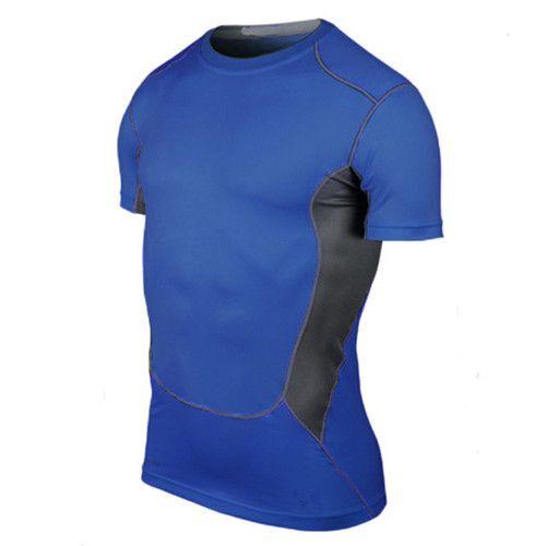 YEL Elastic Man's T-Shirt Quick Dry Tights Fitness Sportswear Gym Training Sportswear Cycling Short Yoga Running T Shirt Men